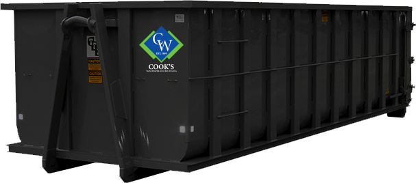 Photo of Cooks Waste roll-off container.